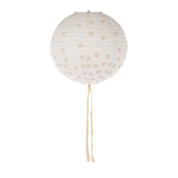 Lampion dots beige